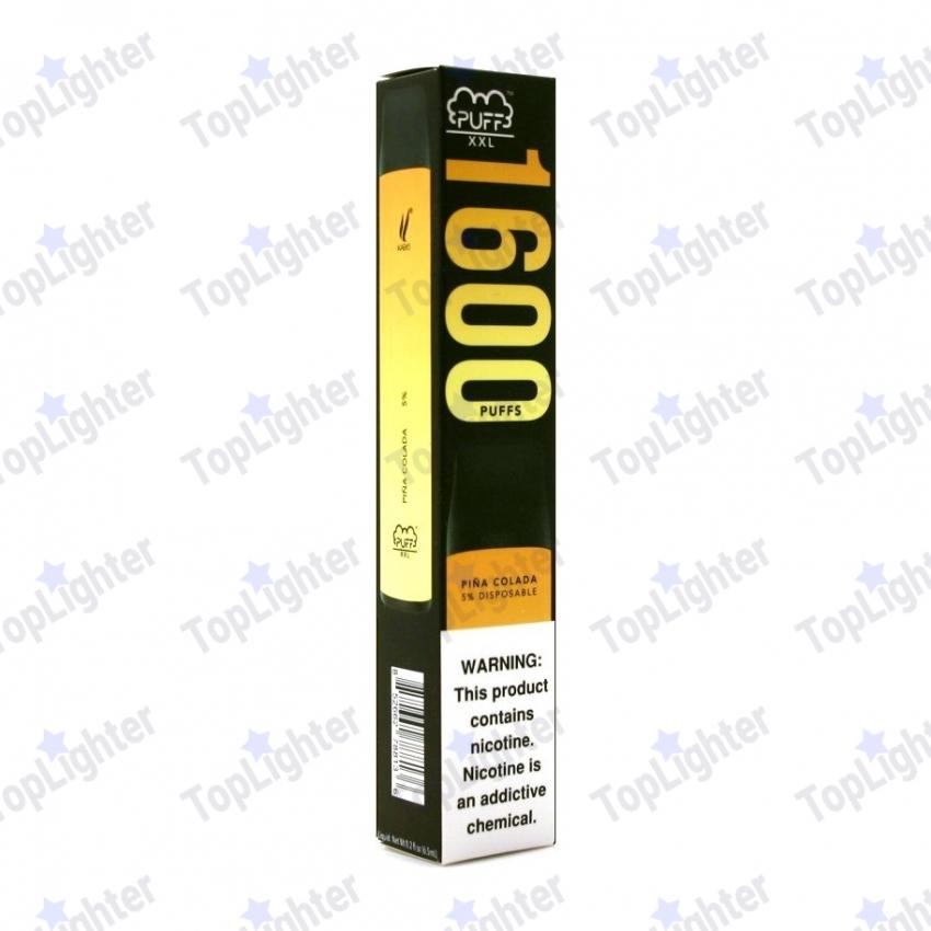 одноразовая электронная сигарета puff xxl 1600 затяжек вкус pina colada